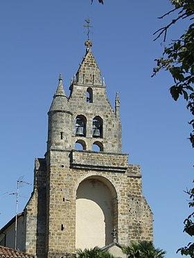 Clocher-mur de l'église des Bénédictins