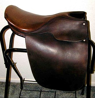 "Saddle seat - A ""saddle seat"" style saddle, also sometimes called a ""Lane Fox"" or ""cutback."""
