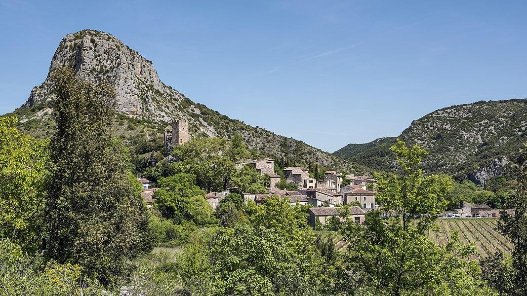 The village of Saint-Jean-de-Buèges, Hérault, France