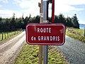 Saint-Just-d'Avray - Route de Grandris - Plaque (janv 2019).jpg