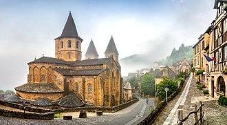Conques - The Sainte-Foy abbey-church in Conques