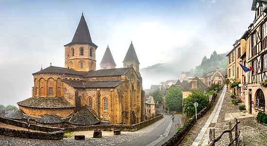 Saint Faith Abbey Church of Conques, Aveyron, France