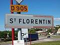 Saint Florentin-FR-89-panneau agglomération-02.jpg