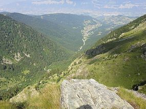 Saint Mury-Monteymond, View from Refuge Jean Collet, June 2012.jpg