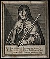 Saint Paula. Line engraving by W. Marshall. Wellcome V0032784.jpg