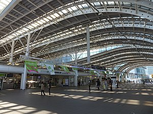 Saitama-Shintoshin Station - The station entrance in November 2015