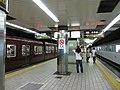 Sakaisuji-Line Nagahoribashi Station platform - panoramio.jpg