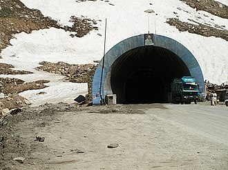 Salang Tunnel - Salang Tunnel entrance from the Baghlan Province.