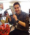 Salesman demonstrating Nook tablet in a Barnes & Noble bookstore.jpg