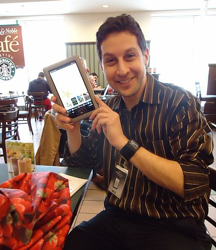 Salesperson demonstrating the Nook Tablet in a Barnes & Noble bookstore in Livingston, New Jersey. Salesman demonstrating Nook tablet in a Barnes & Noble bookstore.jpg