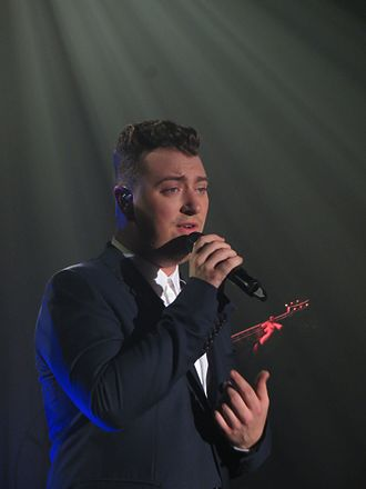 Sam Smith (singer) - Smith singing in Glasgow in 2014