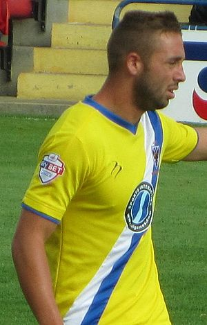 Sammy Moore - Moore playing for AFC Wimbledon in 2013