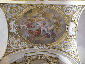 Ottaviano Dandini - Glory of St Joseph, ceiling fresco of church of San Jacopo sopr'Arno, Florence