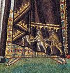 San vitale, ravenna, int., presbiterio, mosaici di teodora e la sua corte 05 re magi su veste di teodora.jpg
