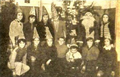 Santa Claus with Kumanovo School children (Dec. 1962).png