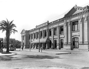 Santa Fe (Belgrano) railway station - Image: Santafe station facade