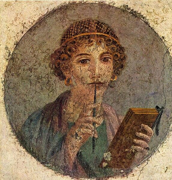 pompeii fresco woman - image 3