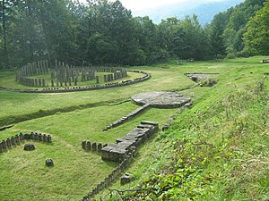Roman Dacia - The sanctuaries in the ruined Sarmizegetusa Regia, the capital of ancient Dacia