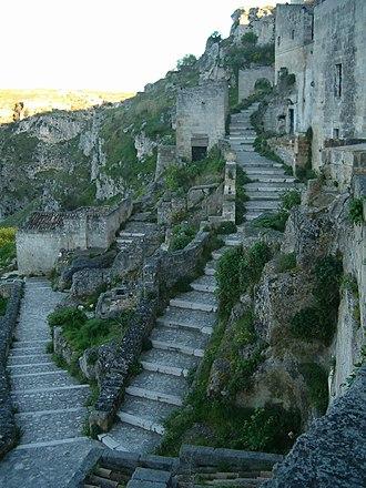 Matera - Stairways in Matera.