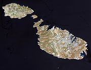 Satelite image of Malta
