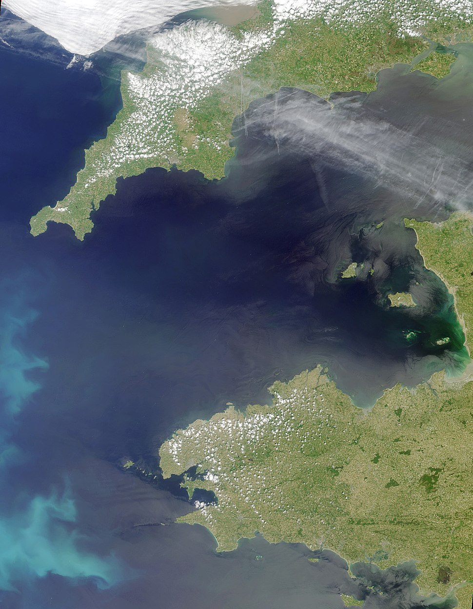 Satellite picture of the Celtic Sea
