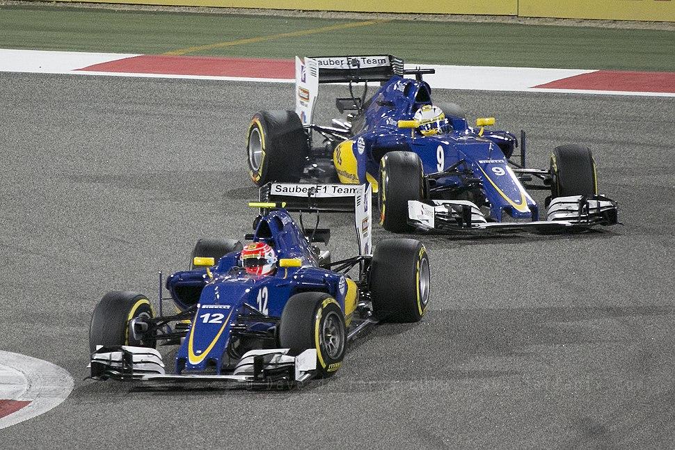 Sauber pair Bahrain 2016