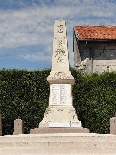 Savonnières-en-Perthois (Meuse) monument aux morts