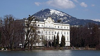 The Sound of Music (film) - Schloss Leopoldskron, where scenes representing the lakefront terrace and gardens of the von Trapp villa were filmed