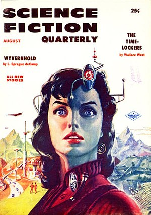 Science Fiction Quarterly - The August 1956 issue of Science Fiction Quarterly; cover art by Ed Emshwiller