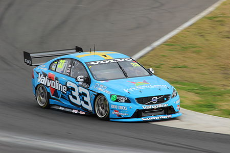 Through the new rules manufacturers such as Volvo were able to enter cars in the series. Scott McLaughlin 2014 Sydney Motorsport Park 400.JPG