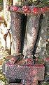 Sculpture of Broken leg of unknown deity at Ekteshwar Temple, Bankura.jpg