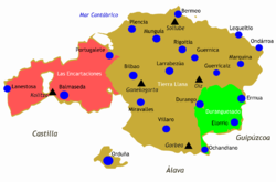 The Lordship of Biscay and its three constituent parts