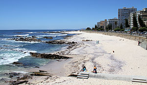 Sea Point - Sea Point Beach with the Beach Front Promenade
