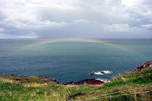 Sea Rainbow. This rainbow appeared after a bri...