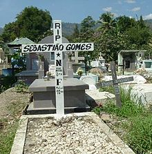 Grave of Sebastião Gomes.