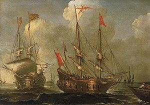 Sebastian Castro (painter) - Image: Sebastian Castro Spanish Ships at Anchor