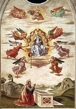 Sebastiano Mainardi - Assumption of the Virgin with the Gift of the Girdle - WGA13865