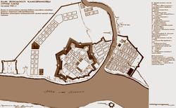 Схема омской крепости