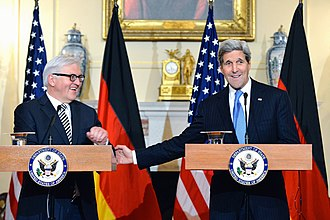 Frank-Walter Steinmeier - Steinmeier with John Kerry in March 2015