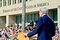 Secretary Kerry Delivers Remarks at the Flag-Raising Ceremony at the Newly Re-Opened U.S. Embassy in Havana (19952904313).jpg