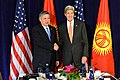 Secretary Kerry Poses for a Photo With Kyrgyz Foreign Minister Abdyldaev Before Their Meeting in New York City (21888901435).jpg