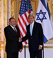 Secretary Kerry Shakes Hands With Israeli Foreign Minister Lieberman, June 2014.jpg
