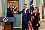 Secretary Kerry Toasts Ambassador Olson for his Distinguished Service as Special Representative for Afghanistan and Pakistan (31203269071).jpg