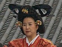 Donna coreana con indosso la gache