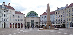 Val d'Europe - 2002 Place de Toscane in Serris, designed by new classical architect Pier Carlo Bontempi