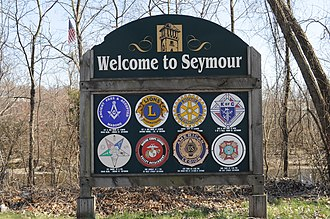 Seymour, Connecticut - Image: Seymour, CT welcome sign 01