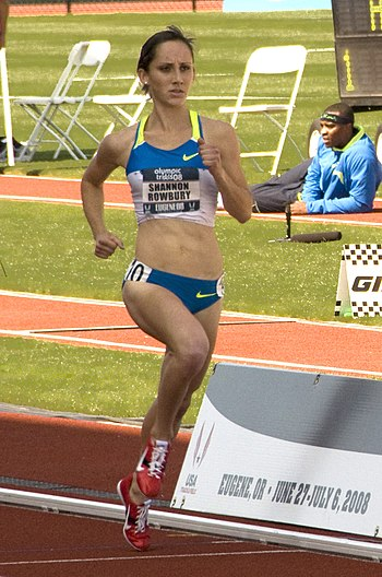 Shannon Rowbury in the Women's 1500m finals of...