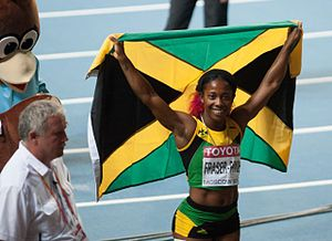 2013 World Championships in Athletics – Women's 200 metres - Gold medalist Shelly-Ann Fraser-Pryce