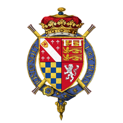 Shield of arms of Henry Howard, 13th Duke of Norfolk, KG, PC, Earl Marshal.png