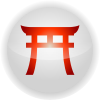 Shinto torii icon vermillion.svg